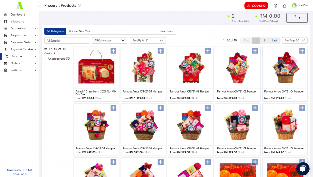 Chinese New Year products available on ADAM